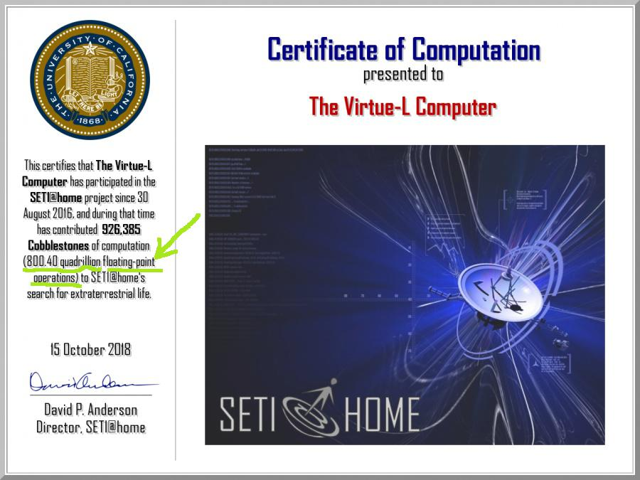 Certificate of computation